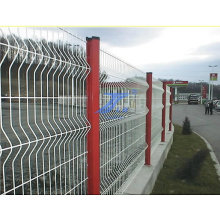 Malla de alambre de la curva revestida del PVC que cerca ISO9001: 2008
