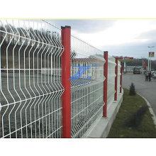 Покрынная PVC Кривой ограждать ячеистой сети ISO9001: 2008 с