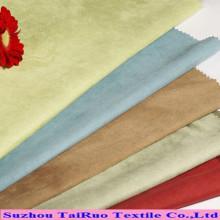 100% poliéster camurça tecido para estofos de tecido de camurça
