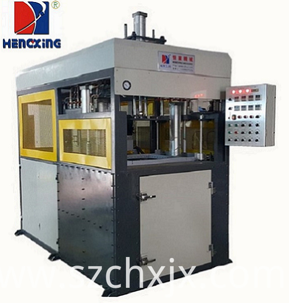 Plastic blister forming machine for thick plastic sheet