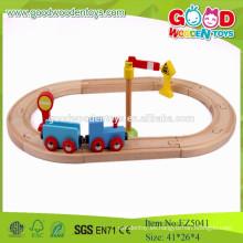 2015 juguetes educativos Mini tren de madera azul para niños