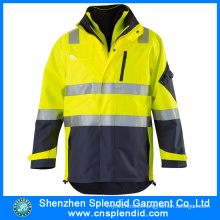 High Quality Custom Men 3m Reflective Reversible Safety Jacket