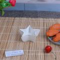 China supplier popular star shape ceramic saucer dishes