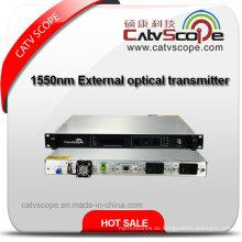 Ökonomisch 1550nm Extern modulierter Lichtwellenleiter / 1550 Externer Modulations-Optik-Laser-Transmitter