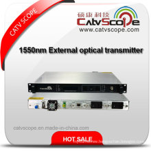 Economical 1550nm Externally Modulated Fiber Optical Transmitter/ 1550 External Modulation Optic Laser Transmitter