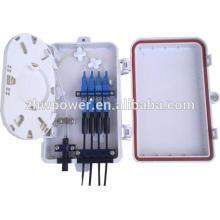Caja de terminales de fibra óptica de interior, caja de terminales óptica mini ftth, caja de terminales de fibra óptica insertada sc / upc pigtail óptico