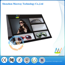 Acrylic display stand for glasses with 7 inch LCD video player