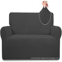 Slipcover 1Piece Couch stretch Sofa Cover Furniture Protector Soft with Elastic Bottom for Kids  Spandex Jacquard Small checks