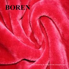 Preiswertes doppelseitiges Korallen-Fleece-Pyjamas-Haus-Kleidung-Gewebe, 100% Baumwollflanell-Gewebe