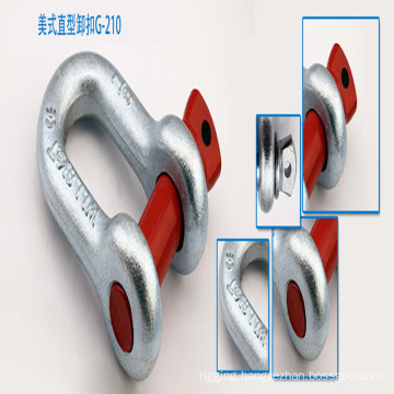 G210 U. S Type Hot Dipped/Galvanized Screw Pin Anchor Shackle;