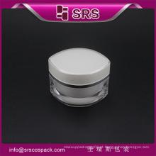 China recipiente de cosméticos embalagem cor branca para amostras grátis