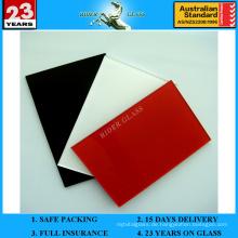 3-6mm Red Spandrel lackiertes lackiertes keramisches Glas