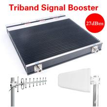 3G 4G Lte Repetidor Celular Amplificador De Señal De Tri-Banda De Señal De Teléfono De Booster 900/1800 / 2100MHz Repetidor De Booster GSM 2g 3G