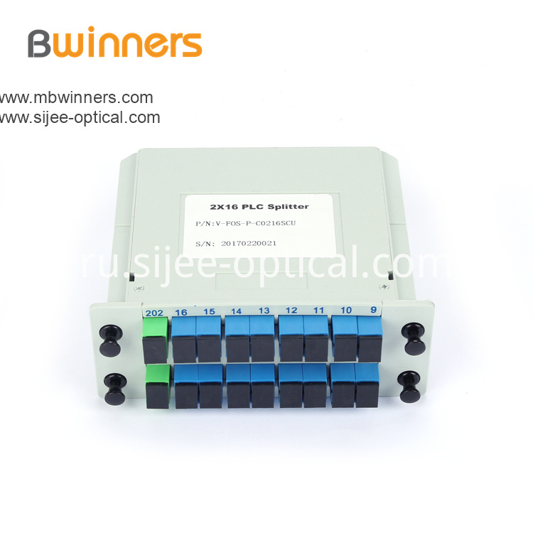 Insertion Module 2x16 Plc Splitter Scapc Connector