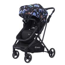 Carrinho de bebê 2 em 1 carrinho deitado amortecedor dobrável criança leve frente e verso