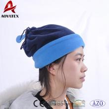 100% poliéster de invierno gorros de lana polar sombreros y cuello scraf