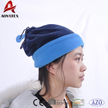 100% polyester winter warm fleece beanies hats and neck scraf