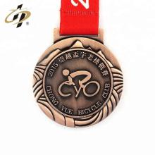 Personalize suas próprias medalhas de metal esportivas antigas de bronze baratas