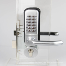 Serrure mécanique de porte de mot de passe, serrures de code de serrure à pêne dormant, couleur de tour deux argentée avec la poignée