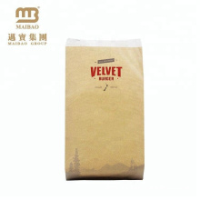 China Manufacturer Custom Colorful Hamburger Packaging Kraft Paper Bag