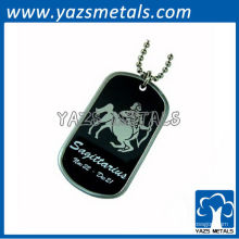 personalize a etiqueta de cão do exército do horóscopo, etiqueta de cão do sagittarius