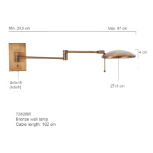 LED adjustable arm wall lamp