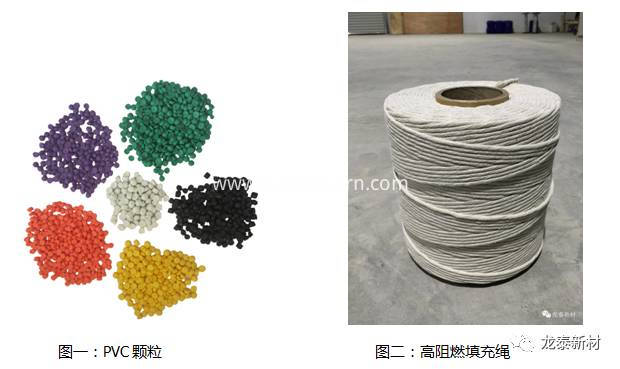 PVC Materials & High flame resistance filling rope