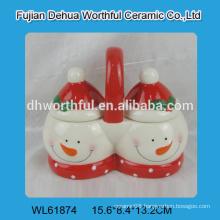 2016 new christmas decoration ceramic seasoning