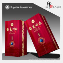 Hologram lamination film for 3d wine packaging box with PVC laminated film