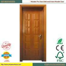 Puerta de la prueba de sonido de la puerta de fuego del PVC laminado puerta
