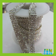 Jewelry crystal rhinestone chain multi rows trimming crystals chain