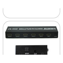 2X4 3D Supported HDMI Splitter Switcher