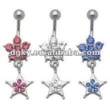Bijoux en acier inoxydable faisant des bijoux piercing du nombril