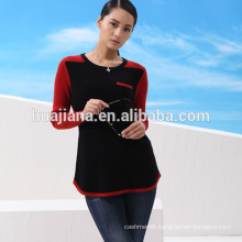 100% cashmere woman's crewneck winter sweater