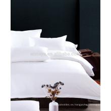200T a 400T Hotel / Motel Use Juego de sábanas y sábanas blanco liso