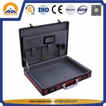 Laptop Aktentasche mit roter Blende und 2 Kombinationsschlössern