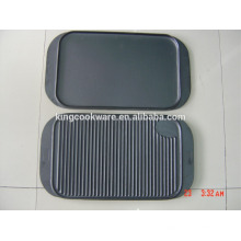 hot sale cast iron pre-seasoned reversible griddle