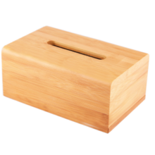 High Grade Bamboo Tissue Napkin Box Holder