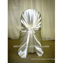 tapa cubierta de la silla uno mismo-lazo del satén, cubierta de la silla bolso del satén, boda y banquete