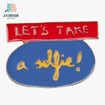 Good Quality Enamel Pin Custom Logo Metal Name Badge for Promotion
