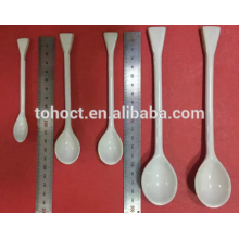 Laboratory procelain ceramic spoon