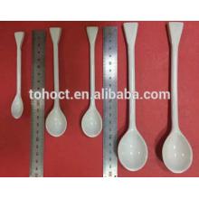 Colher cerâmica de procelain de laboratório