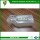 Medical Use Translucent Plastic Male Urinal with Handle and Lid