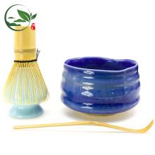 Bright Blue Japanese Matcha Bowl