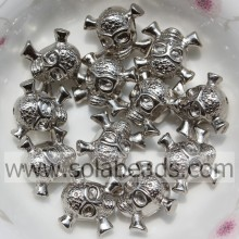 Mixed 10*14MM Plastic Skull Shape Lucite Spacer Beads