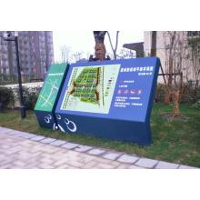 Exterior Attractive Park Layout Map Non-Illuminated Directory Sign