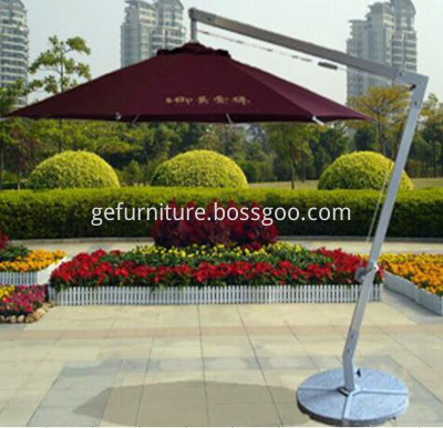 PE Rattan Patio Umbrella