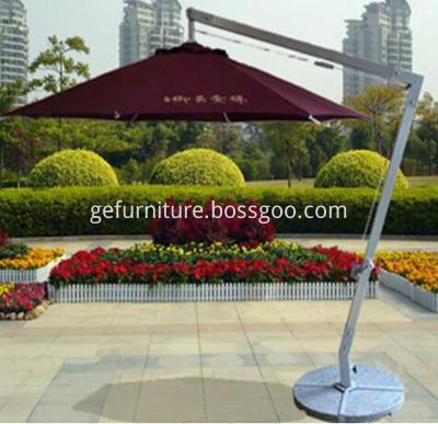 PE Rattan Patio Umbrella