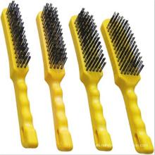 Herramientas Juego de cepillo de alambre Mango de plástico Industrial Heavy Duty