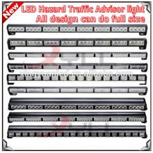 Tamaño completo Advertencia de emergencia Peligro Barra de luz estroboscópica del asesor de tráfico de remolque